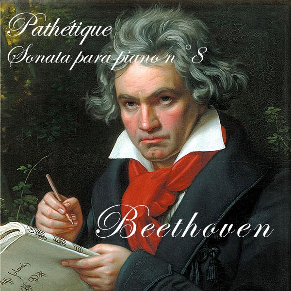 musica pathetique sonata para piano ilustración